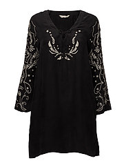 mood changer l/s tunic - ALMOST BLACK