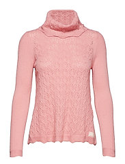 flake turtleneck - PINK POWDER