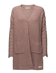 ballroom long cardigan - PINK POWDER