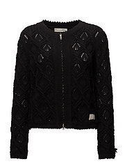 harmony knitted jacket - ALMOST BLACK