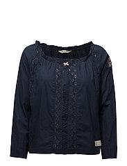 operetta l/s blouse - BLUE INK