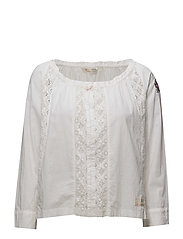 operetta l/s blouse - BRIGHT WHITE