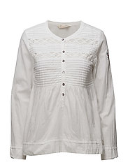operetta blouse - BRIGHT WHITE