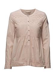 operetta blouse - SMOKE ROSE