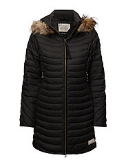 earth saver long jacket - ALMOST BLACK
