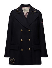 peacock peacoat - FRENCH NAVY