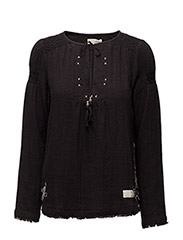 lead the way blouse - ALMOST BLACK