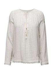 lead the way blouse - LIGHT CHALK
