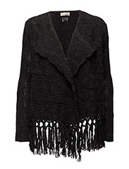 yes yes yes WRAP cardigan - ALMOST BLACK