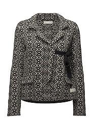 lovely knit jacket - ALMOST BLACK