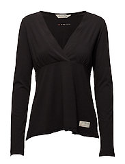 da capo l/s top - ALMOST BLACK