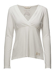 da capo l/s top - LIGHT CHALK