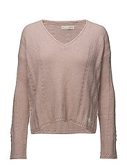 clockwise sweater - MILKY PINK