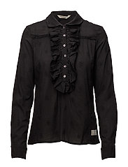 rhythm blouse - ALMOST BLACK