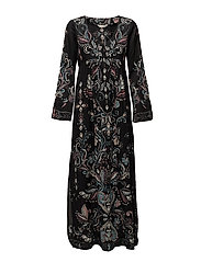 my roots dress - ALMOST BLACK