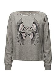 choir sweater - LIGHT GREY MELANGE