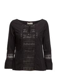 flour power blouse - ALMOST BLACK