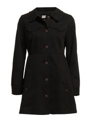 pinnacle short coat - LITE ALMOST BLACK