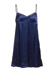 silken dress - BLUE