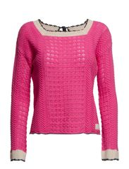 lost on purpose sweater - BRIGHT PINK