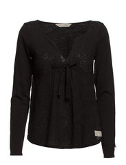 re-feel blouse - ALMOST BLACK