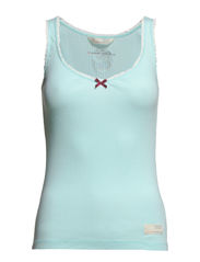rib jersey tank - LIGHT BLUE