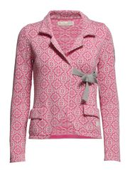 lovely knit jacket - BRIGHT PINK