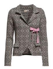 lovely knit jacket - DARK GREY