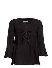 remix blouse - ALMOST BLACK