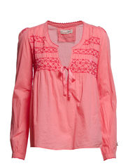 cotton embroided blouse - WARM PINK