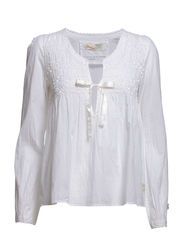 cotton embroided blouse - WHITE