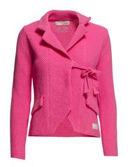 the knit jacket - BRIGHT PINK