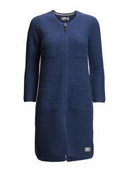 hell yeah crochet coat - MID INDIGO