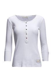 grampa 3/4 shirt - BRIGHT WHITE