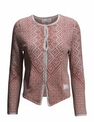 golden gauge cardigan - DARK RED