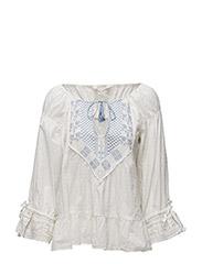 lady luck blouse - LIGHT CHALK