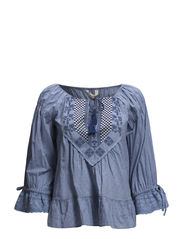 lady luck blouse - LIGHT INDIGO