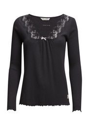 rib-eye l/s top - ASPHALT