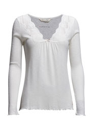 rib-eye l/s top - LIGHT CHALK