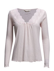 rib-eye l/s top - ROSE
