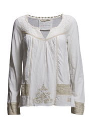 lady liberty blouse - LIGHT CHALK