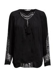 emmeline blouse - ALMOST BLACK