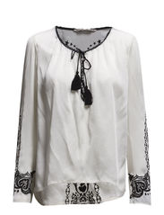 emmeline blouse - LIGHT PORCELAIN