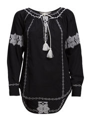 clara blouse - ALMOST BLACK