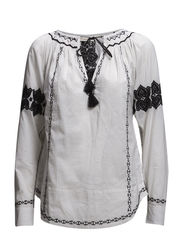 clara blouse - LIGHT CHALK
