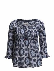 amor blouse - DARK BLUE