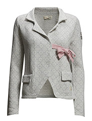 lovely knit jacket - LIGHT GREY