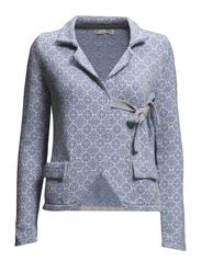 lovely knit jacket - SKY BLUE