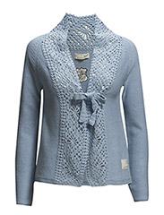 snuggle crochet cardigan - SKY BLUE