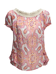 cherry pie blouse - STRONG PINK